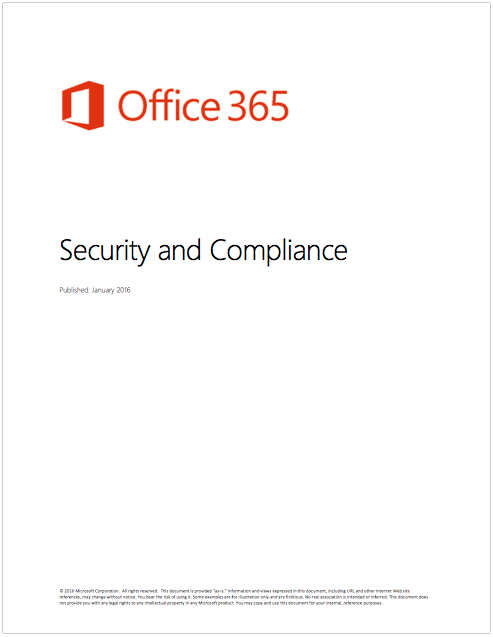 White Paper: Office 365 Security and Compliance Post Preview