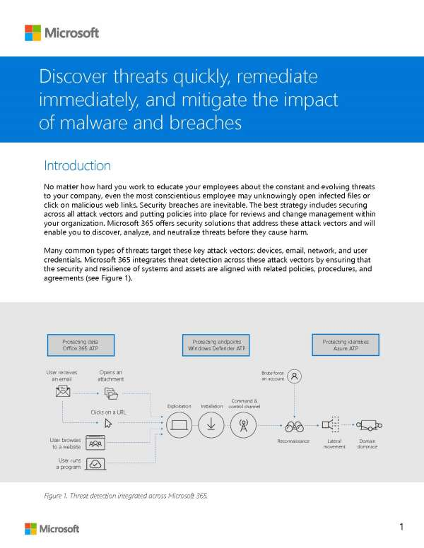 Discover threats quickly, remediate immediately, and mitigate the impact of malware and breaches Post Preview