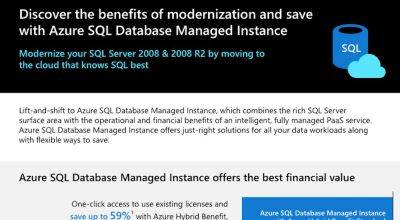 Discover the benefits of modernization and save with Azure SQL Database Managed Instance Post Preview