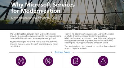 Why Microsoft Services for Modernization Post Preview